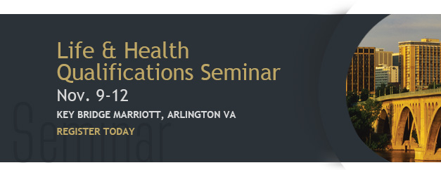 Slider for the 2015 Life and Health Qualification Seminar
